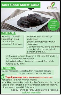 Anis choc moist cake