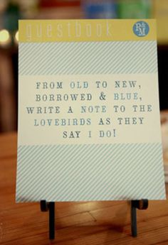 adorable guest book quote - great idea!