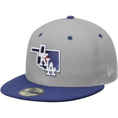 5bf94da8a8f Oklahoma City Dodgers New Era Road Authentic Collection 59FIFTY Fitted Hat  - Gray Royal