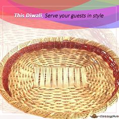 This #Diwali serve your guests in style. #DiwaliShopping #Diwaligifts #Basket #Classyplus https://goo.gl/MDqUaL