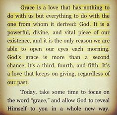 What does God's grace (made possible through the Atonement http://pinterest.com/pin/24066179232554235 of Jesus Christ http://facebook.com/173301249409767) mean to you, and how are you blessed from relying on His grace daily? Remember that He expects and requires much of us, but as we do our best to follow Him, His grace is sufficient for us. Learn more about grace http://lds.org/topics/grace and #passiton.