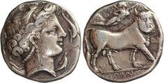 Didrachm 300 BC Griechenland Neapolis VF