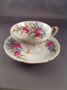 UCAGCO Fine China Japanese Vintage Footed Teacup
