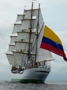 The ARC Gloria is a training ship and official flagship of the Colombian Navy.