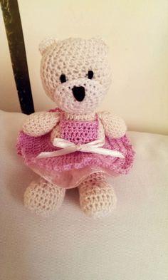 crochet teddy, szydełkowy miś