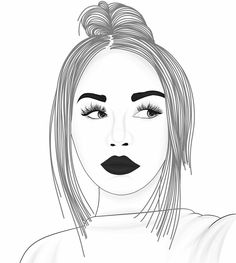 #blackandwhite Tumblr Drawings, Bff Drawings, Tumblr Art, Outline Drawings, Couple Drawings, Easy Drawings, Girl Outlines, Panda Drawing, Pencil Drawings Of Girls