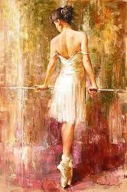 Resultado de imagem para pinturas em telas de bailarinas