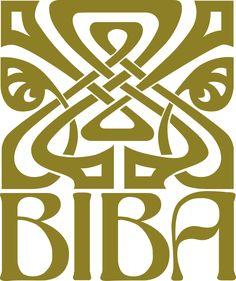 "The logo for the legendary London fashion destination ""BIBA""            1964-1975"