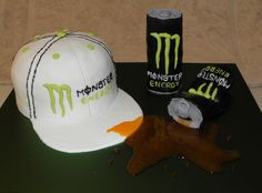 Monster Energy Drink  Birthday cake for my 13 yr old son....