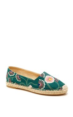 Green Blossom Esme by Charlotte Olympia Now Available on Moda Operandi