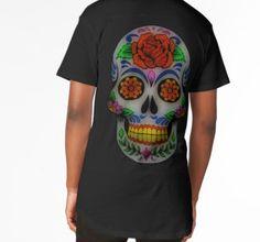 Sugar Skull No. 1 Long T-Shirt