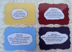 Karins-kortemakeri: Førstehjelpsskrin 40 år Tips, Counseling