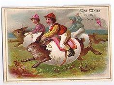 Spring Grove York County PA M w Lau White Sewing Machine Victorian Trade Card | eBay