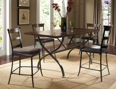 Cameron Rectangle Dining Set W/Ladder Back Stool 4671-CDB15