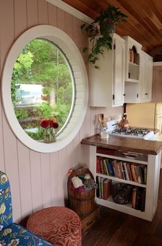 Erika's Notes:  The more unusual windows, the better.  Von Thompsons School Bus Tiny Home 02