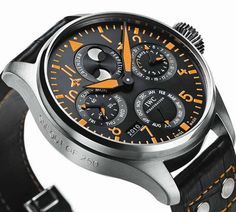 IWC [One of their pilot's watches. LOVE the orange!]