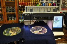 Painting by Embroidery Machine by Stella Blu, via Flickr