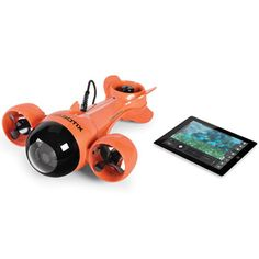 This is the remote operated submarine that sends live video to an iPad from 100' underwater.