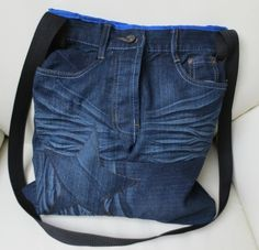 einfache bastelideen damentasche nähen alte jeans