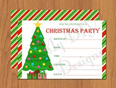 Eat Drink  Be Merry Invitation  Microsoft Word Christmas