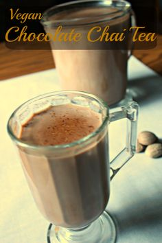 Chocolate Chai Tea perfect to warm up with in the winter or while reading a book! oh and it is completely #vegan too!
