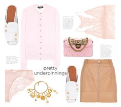 """""""Pink to make the Boys Wink 😉"""" by badassbabyboomer ❤ liked on Polyvore featuring La Perla, Chloé, Anine Bing, Rosetta Getty, Dolce&Gabbana, River Island, Gucci and prettyunderpinnings"""