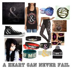 """""""Of Mice & Men Concert"""" by hazuki-111 ❤ liked on Polyvore featuring Converse and Vans"""