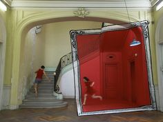 Street Artists Paint Amazing, Playful Optical Illusions In Abandoned Buildings - DesignTAXI.com
