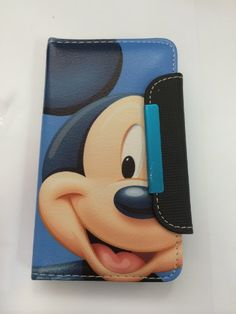 Mickey Mouse Leather Case Wallet For Samsung Galaxy S4
