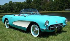 1956 corvette, love the color almost as much as I love the shape
