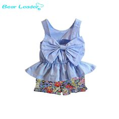 Flower Bow Ruffle Baby Outfit