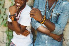 Mwen Zanmi! Handmade #mensjewelry  #fairtrade  made with Haitian Clay