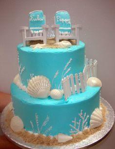 Lady on a beach. (Birthday Cakes)  Beach Themed Party Ideas ...