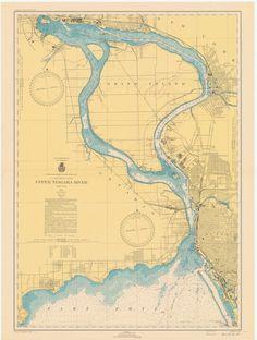 Lake Michigan  Racine Harbor Historical Map  1931  Lake