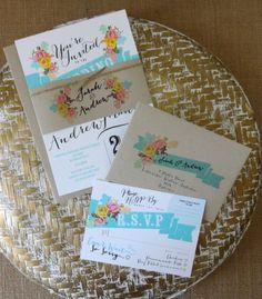 RUSTIC WEDDING INVITATION Suite - Unique, Custom Designed Wedding Invitation Suite. Shabby Chic, Rustic and Vintage Inspired.. $5.00, via Etsy.