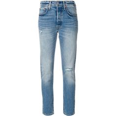 Levi's 501 skinny jeans ($153) ❤ liked on Polyvore featuring jeans, blue, levi skinny jeans, skinny fit jeans, blue jeans, skinny leg jeans and denim skinny jeans