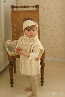 This is knitting pattern for SET of two items: poncho Robyn and headband with braided cables. Knit this warm poncho in alpaca or merino wool for extra warmth. This is a wonderful garment for layering on those not so sunny days. This