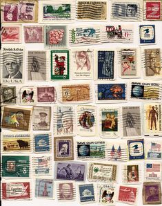 Yes, I was an avid stamp collector once upon a time, carrying on my dad's collection started in I think. Remember buying stamps 'on approval' from magazines and comics Decoupage Vintage, Vintage Stamps, Diy Doll Miniatures, Envelope Art, Book Projects, Craft Projects, Custom Stamps, Mail Art, Stamp Collecting