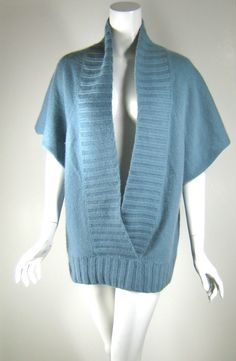 TWELFTH STREET BY CYNTHIA VINCENT Blue Cashmere Tunic Sweater Size Medium #CynthiaVincent #Tunic