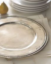 Pewter Charger Plates ~ Love!
