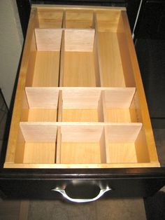 DIY Balsa Wood Drawer Divider.