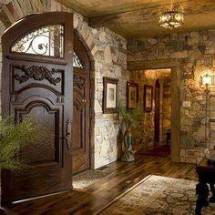 Custom Mahogany Arched Double Door. BEAUTIFUL!