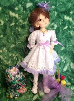 Spring Holiday dress for MSD BJD modeled by KW Essie by nankatts on Etsy