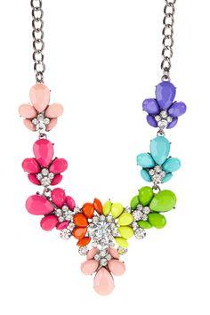 Rainbow Resin Necklace