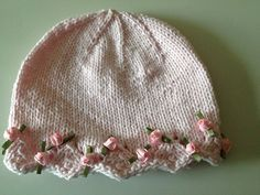 One Day Baby Hat: free knitting pattern-If only I knew how to knit-here is one for you Lynda : )