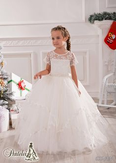 Jewel Short Sleeves Lace Beaded Net Baby Girl Birthday Party Christmas Princess Dresses Children Girl Party Dresses Flower Girl Dresses Dress Dresses From Weddingmall, $45.81| Dhgate.Com