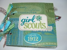 girls scout scrapbook | SUPER CUTE Girl Scout 6x6 Chipboard Scrapbook by TowneScrapbookArt