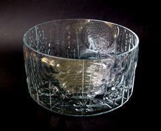 Flora Glass Bowl Designed by Oiva Toikka for Nuutajarvi Wartsila Iittala of FInland