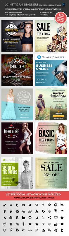 Instagram Banners Promotional - Download Here : http://graphicriver.net/item/instagram-banners/11331371?ref=yinkira
