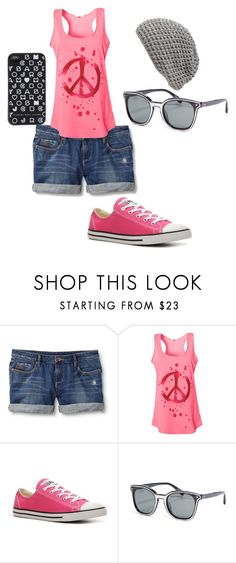 """""""Casual"""" by lauracuervo ❤ liked on Polyvore featuring Quiksilver, Blonde + Blonde, Converse, Rebecca Minkoff, Cara and Marc by Marc Jacobs"""